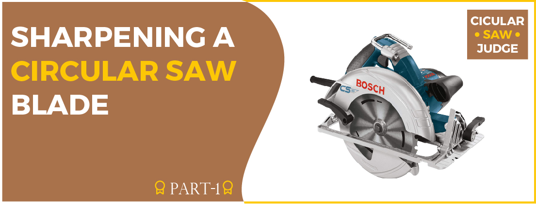 Sharpening a circular saw blade